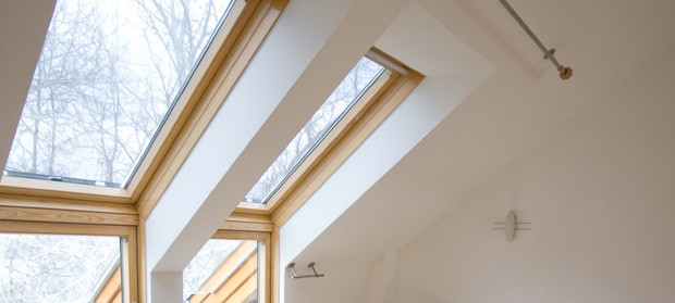 Skylights with beech wood frames